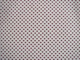 Látka biela drobné bordové srdiečka e3d85e014e1
