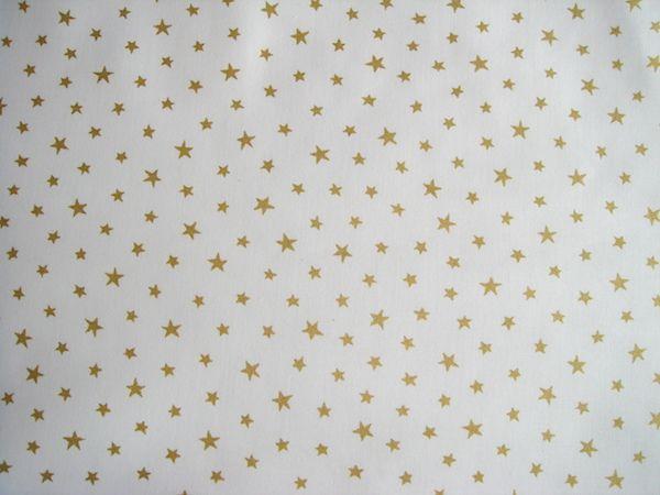Látka biela so zlatými hviezdičkami 3b702f499c2